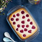 Fructosefreier Himbeer-Cheesecake ohne Boden